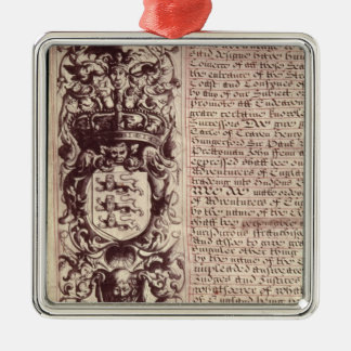 Detail of the left hand margin christmas ornament