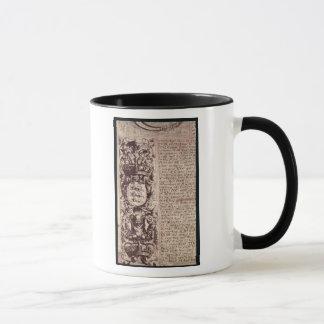 Detail of the left hand margin mug