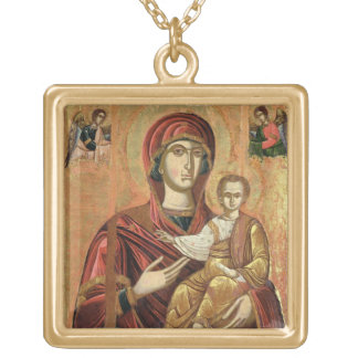 Detail of the Madonna and Child from the Iconostas Gold Plated Necklace
