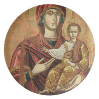 Detail of the Madonna and Child from the Iconostas Party Plates