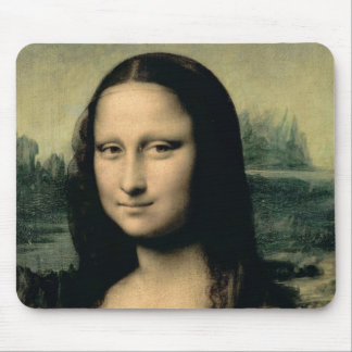 Detail of the Mona Lisa, c.1503-6 Mouse Pad