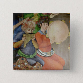 Detail of the musicians 15 cm square badge
