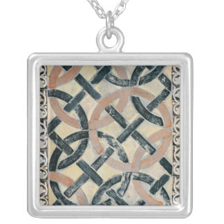 Detail of the pavement silver plated necklace