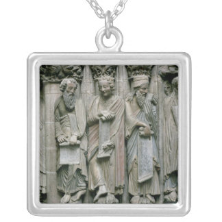 Detail of the Portico Silver Plated Necklace