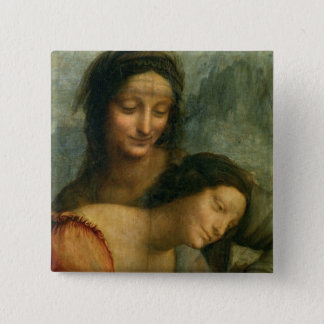 Detail of the Virgin and St. Anne from The Virgin 15 Cm Square Badge