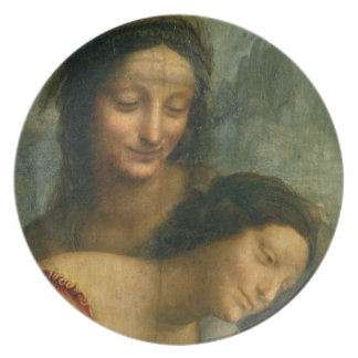 Detail of the Virgin and St. Anne from The Virgin Dinner Plates