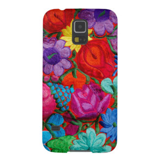 Detail of traditional embroidery floral textile galaxy s5 cover