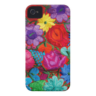 Detail of traditional embroidery floral textile iPhone 4 case