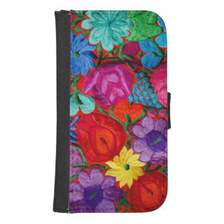 Detail of traditional embroidery floral textile samsung s4 wallet case