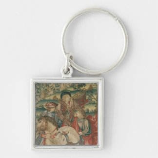 Detail of Trumpeters on horseback Key Ring