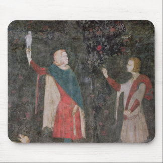 Detail of two falconers, from the Stag Room Mouse Mat
