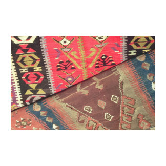Detail of two prayer rugs canvas print