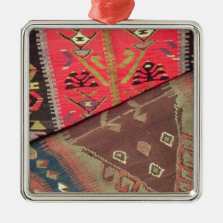 Detail of two prayer rugs christmas ornament