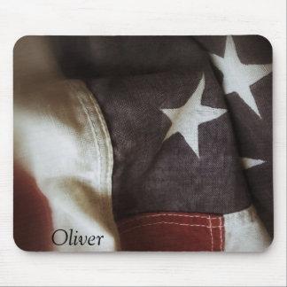 detail of USA flag mousepad