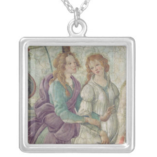 Detail of Venus and the Graces Silver Plated Necklace