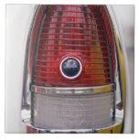 Detail of vintage car on display 2 large square tile