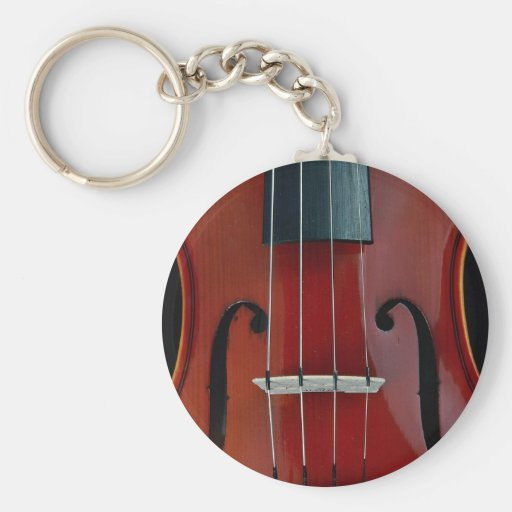 Detail of violin and strings key chains