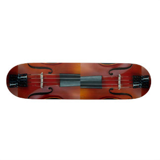 Detail of violin and strings skateboards