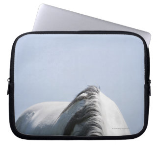 detail of white horse laptop sleeve