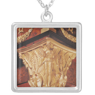 Detail of winged victory silver plated necklace