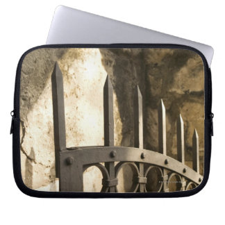 Detail of wrought iron gate in San Antonio Laptop Sleeve