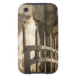 Detail of wrought iron gate in San Antonio Tough iPhone 3 Cover