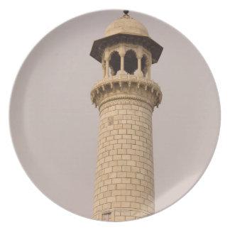 Detail, Taj Mahal, Agra, Uttar Pradesh, India Dinner Plate