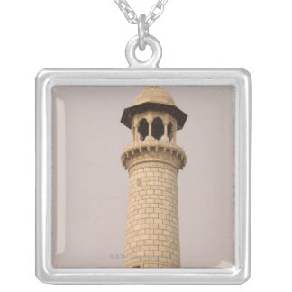 Detail, Taj Mahal, Agra, Uttar Pradesh, India Silver Plated Necklace