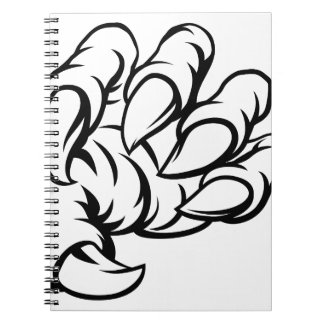 Detailed Bull Silhouettes Spiral Note Book