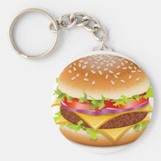 Detailed burger design keychain