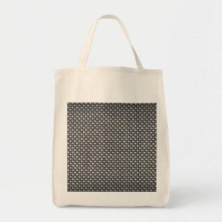 Detailed Carbon Fiber Textured Canvas Bags