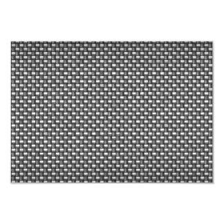"Detailed Carbon Fiber Textured 3.5"" X 5"" Invitation Card"