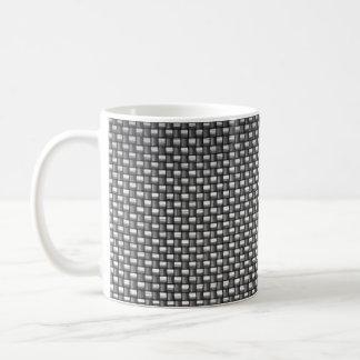Detailed Carbon Fiber Textured Mug