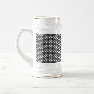 Detailed Carbon Fiber Textured Coffee Mug
