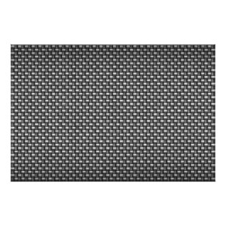 Detailed Carbon Fiber Textured Posters