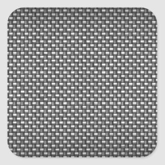 Detailed Carbon Fiber Textured Square Sticker