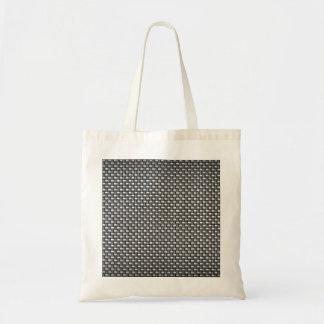 Detailed Carbon Fiber Textured Tote Bag