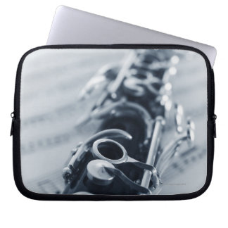 Detailed Clarinet Laptop Computer Sleeve