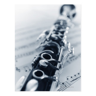 Detailed Clarinet Postcard