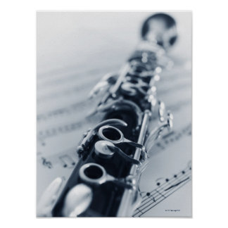 Detailed Clarinet Poster