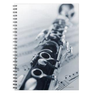 Detailed Clarinet Spiral Note Books