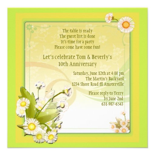 Detailed Corner Invitation