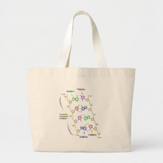 Detailed Diagram of the Chemical structure of DNA Jumbo Tote Bag
