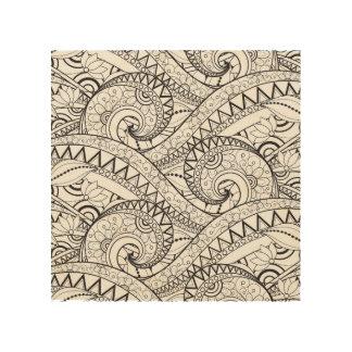 Detailed Floral Pattern Doodle 5 Wood Canvases