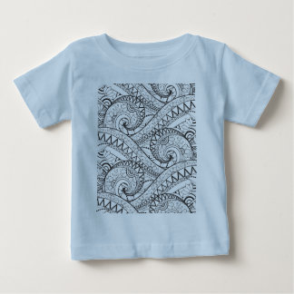 Detailed Floral Pattern Doodle Baby T-Shirt