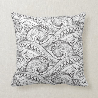Detailed Floral Pattern Doodle Cushion
