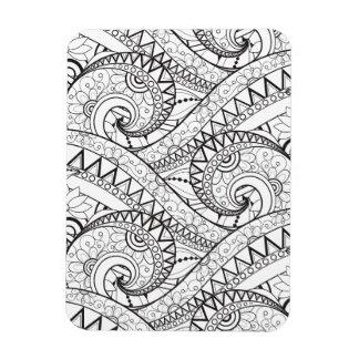 Detailed Floral Pattern Doodle Magnet