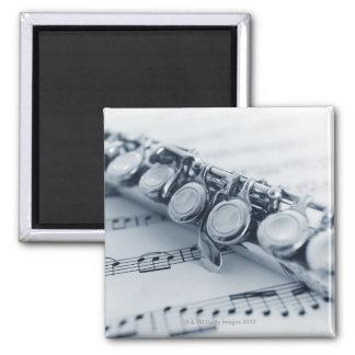 Detailed Flute Square Magnet