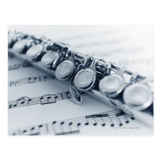 Detailed Flute Postcard