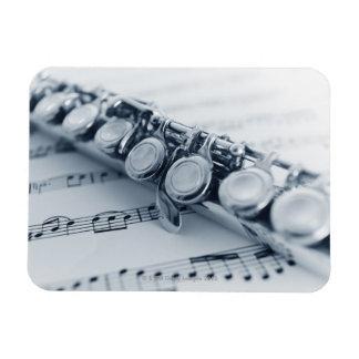 Detailed Flute Rectangular Photo Magnet